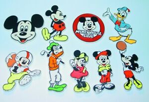 DISNEY MICKEY MINNIE GOOFY 1980's FRIDGE MAGNET SET VINTAGE AMERICANA NOS
