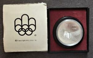 1976 CANADA SILVER OLYMPICS 5 DOLLAR COIN, OLYMPIC VILLAGE, CASED  C3