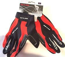 Large GUB Cycling Gloves with Gel Pads (Red and Black)