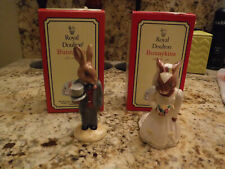 Royal Doulton Bunnykins Bride and Groom Porcelain Figurines Nib