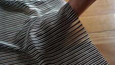 Stunning Black & White Stripe Ribbed Slight Sheen 2-way Stretch Chiffon £5.50
