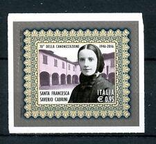 ITALIA 2016 Gomma integra, non linguellato Francesca Cabrini CANONIZZAZIONE 70th ANNIV 1v S/una serie di francobolli