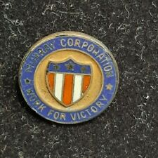 WWII Murray Corporation Worker Victory E Production Award Employee Pin