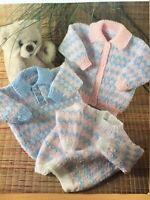Knitting Pattern Baby Children's Jumper Sweater Cardigan Chest 16 - 22in DK