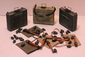 DRAGON, DML, DID, SOLDIER STORY 1:6 SCALE WWII GERMAN HAND GRENADES & CASES LOT