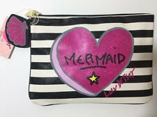 """LUV BETSEY by Betsey Johnson Striped """"MERMAID"""" Dangle Tech Pouch Bag Clutch"""