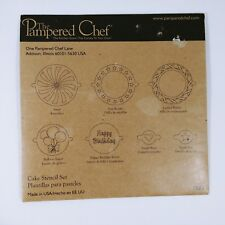 Pampered Chef Cake Stencil Set Complete 1535 Cake Decorating