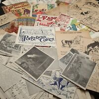 Ephemera lot  junk journaling scrapbooking vintage antique illustration 3/4 lb