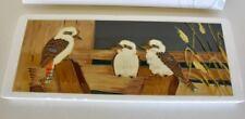Handmade & Hand Painted Australian Kookaburra Tile Wall Hanging Plaque