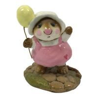Wee Forest Folk M-131 Come Play! Pink Dress Balloon Party Retired