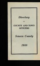 Seneca County NY 1958 Booklet Directory of County & Town Officers