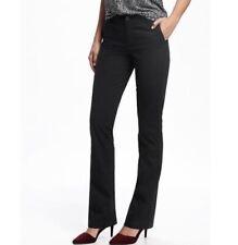 New! Old Navy Plus Size Black Stretch Flare Leg Chino Khakis Pants 18 Petite