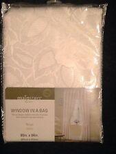 "Mainstays Window in a Bag 'LAURA"" 2 Beige 80"" x 84"" Panels, Valance + Tie Backs"