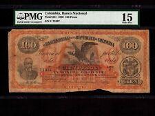 Colombia 100 Pesos 1900 P-281 * PMG F 15 * Civil War Issue *