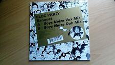 """Bloc Party Banquet (Boys Noize Remixes) 2 Track Remix 10"""" Vinyl"""