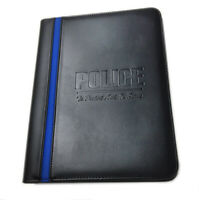Police To Protect and To Serve Leatherette Thin Blue Line Padfolio & More