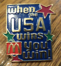 Mcdonald'S Service Award Hat Lapel Pin  When The Usa Wins, You Win Olympic