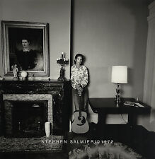 "TOWNES VAN ZANDT ALBUM COVER  PHOTO / 8X10"" B&W DKRM PRINT SIGNED SALMIERI 1972"