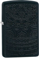 Zippo Tone on Tone Design Black Matte Windproof Lighter 11320