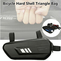 Mountain Bike Bicycle Hard Shell Triangle Bag Kit Riding Accessories Black Large