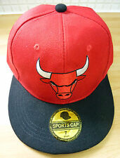 Chicago Bulls Sports Cap NBA Basketball Hat Snapback Style 57cm 7 Red Black NEW
