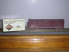 L.L./Proto 2000 Baltimore & Ohio Mather 40' D.D.Stock Car #110007 Weathered