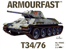 Armourfast 99005 1:72 WWII Russian T34/76 Tank (2 Models)