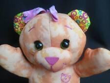 BIG GET CREATIVE DOODLE TEDDY BEAR GIRL ORANGE PINK SKIRT DRAW ON ME SOFT PLUSH