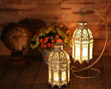 25 White Moroccan shabby Candle holder Lantern floral Wedding table centerpiece
