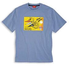 DUCATI Graphique Vacances VACANZE manches courtes T-Shirt bleu neuf