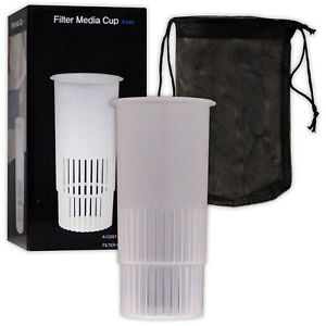 "Mantis Filter Media Cup 4"" Marine Reef Reefer Carbon Holder Aquarium Fish Tank"