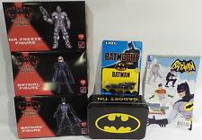 BATMAN : BUNDLE : 3 X MODEL KITS, COMIC, TIN & BATMOBILE (TK) & (SC)