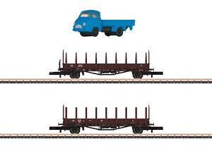 Märklin 82132 Spur Z Rungenwagen-Set Rmms 33 der DB 2-teilig #NEU in OVP