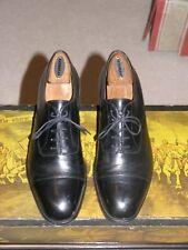 JM Weston Black Leather Cap Toe Oxfords 7.5