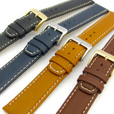 Fine Quality Condor Padded Calf Leather Watch Strap Contrast Stitching 615R