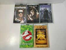 Lot Of (5) UMD Video Discs For Sony PSP Matrix Terminator Rambo Ghostbusters