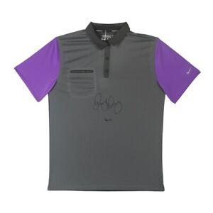 Rory McIlroy Signed Autographed Gray/Purple Nike Polo Golf Shirt Auto /25 UDA