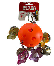 Bonka Bird Toy Orange Ball Bellpull Bird Parrot Cage Toys Cages African Grey