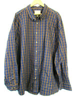 new Cabela's Men's Outfitter Series 100% Cotton Plaid Long Sleeve Shirt 4XL Tall