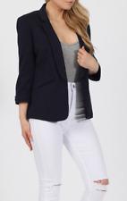 Stylish Womens Foldable Sleeve Blazer 3/4 Length Turn Up Sleeves Collection!