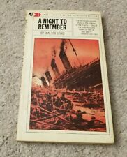 1963 A NIGHT TO REMEMBER Sinking of Titanic Ship Plans True Account Walter Lord