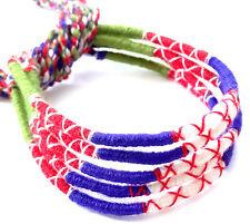 Lot 5 Bracelets Bresiliens de l'Amitié Macramé coton Friendship vert bleu rouge