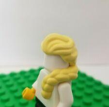 New Lego Hair Yellow Blonde  ELSA Frozen Princess Over Shoulder Braid Long Girl