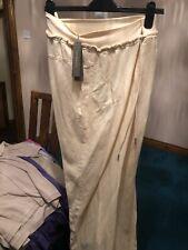 SANDWICH CLOTHING MALMO LINEN MIX TROUSERS LEMON  SIZE 42 XL UK 16. BNWT £79