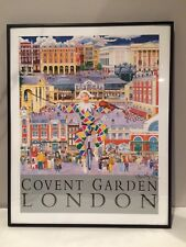 """COVENT GARDEN LONDON 16"""" x 20"""" SIGNED & FRAMED POSTER by CHRISTOPHER ROGERS"""