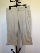 Women's Columbia OMNI-SHIELD Advanced Repellency Beige Stretch Capri Pant Size 8
