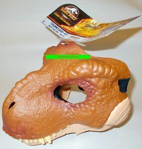 TYRANNOSAURUS T-REX HALF MASK Jurassic World Park CAMP CRETACEOUS Dinosaur NEW