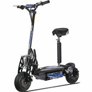 UberScoot Evo 1000W 36V Electric Scooter - Black Cap-265# Free Ship to 48 States