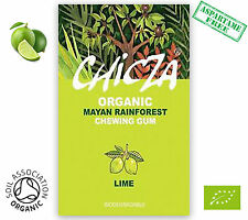 CHICZA ORGANIC RAINFOREST CHEWING GUM!  1X BOX  MEXICAN LIME (10 packets)