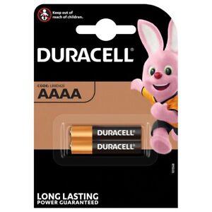 Duracell AAAA LR61 Batteries   2 Pack
